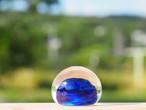 沖縄の思い出ペーパーウェイト(深海) 琉球ガラス工房 雫