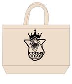 No.2020-royaldog-tote0003L  : ロイヤルドッグシリーズ リアルコーギー王冠 トートバッグLサイズ