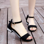 【shoes】ファッション切り替えローヒールサンダル21515280