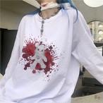 【tops】動物柄ラウンドネック合わせやすいTシャツ23867487