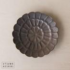 [前田 麻美]菊 4寸皿(ブロンズ釉)