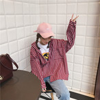 【新作10%off】big striped pocket shirts 2814