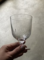 h collection LARGE STEM GLASS/FINE LACE