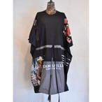 【 RehersalL 】wide Tshirt onepiece(black 10) /【リハーズオール】ワイドTシャツワンピース(ブラック 10)