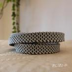 正絹 灰青の鱗の三分紐