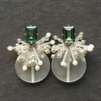 SWAROVSKI CRYSTAL Beads Tassel ピアスのみ -silver-