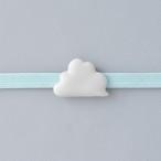 白磁の帯留め 雲