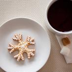 プレーン味 雪の結晶(アイシングクッキー)