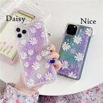 流れるPurple glitter flower iphone case