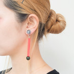 Neo Eccentric earrings -lollipop red-