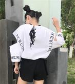 【新作10%off】open sleeve harajuku style shirts 2640
