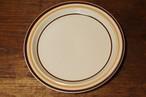 日本製 ストーンウェア countryside  プレート 27センチ ライン 大皿 ケーキ皿 昭和レトロポップ 古道具 北欧の食器がお好きな方にもどうぞ