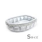 ふーじこちゃんママ手作り ぽんぽんベッド(サテンシルバー)Sサイズ 【PB22-077S】
