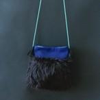 Fur Bag  Fサイズ  Blue&Black