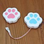 肉球メジャー(猫柄 犬柄 携帯用 100cm)