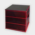5.5寸三段重 紅(重箱)