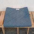 UCキルト / 掛け布[水玉模様] 紺色+チョコレート色