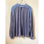 【RehersalL】see through slit volume blouse(purple)/【リハーズオール】シースルースリットボリュームブラウス(パープル)