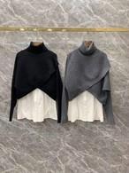 シャツクロスニットセット シャツ ニット 韓国ファッション