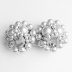 pearl cluster earring[e-810]