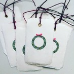 message tag / bookmark (xmas wreath)