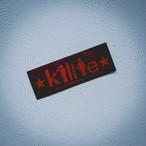 """【予約販売】Killie """"積年の恨みと癇癪により自殺を誘発する"""" ステッカーver.2 赤(耐水タイプ) / sticker ver.2 ( Red )"""