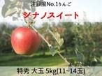 【予約・10/20頃~発送開始】シナノスイート 5㎏ 大玉(10~14玉) 特秀 長野県産 りんご