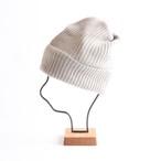 mature ha./pleats knit cap/light greige