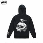 【裏パイル】Kogara&Skull Hoodie (Black)
