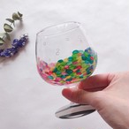 ※期間限定5/19まで【kobako】絵付けグラス・ブランデーグラス(カラフルドット)