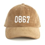 0867 / Corduroy Cap / College / Logo / Tan
