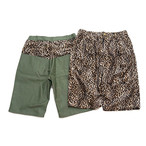EFFECTEN(エフェクテン) leopard pattern cropped pants