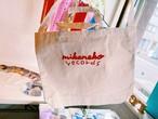 mikeneko records 2wayポケット付きトートバッグ