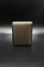 Item No.0291 :Short Butterfly wallet/Diamond python / L-fin
