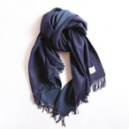 THE INOUE BROTHERS/Woven Brushed Doublefaced Stole/navy×blue