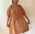 Flower Of Life Tunic Dress / Earthy Colorフラワーオブライフ ドレスチュニック/土色