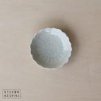 [前田 麻美]菊 豆々皿(灰青釉)