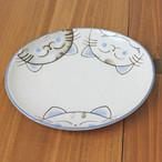 【水晶ねこ】軽量楕円4.5寸皿【猫柄 肉球付 猫雑貨】
