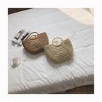 大 かご編みバッグ ペーパーバッグ【16249】