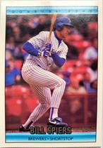 MLBカード 92DONRUSS Bill Spiers #364 BREWERS
