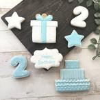 [お子さんのお誕生日に]【アイシングクッキー】数字つきバースデーセット