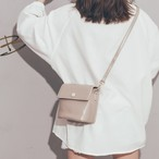 【小物】合わせやすいレトロ切り替え斜め掛けショルダーバッグ