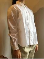 YAECA#68104 コンフォートシャツ ワイドショート WHITE レディース