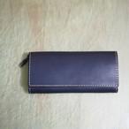 かぶせの定番長財布 / wallet ネイビー