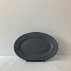 ONE KILN CERAMICS / ASH/ oval plate S
