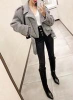 クロップドグレージャケット ジャケット  韓国ファッション