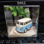 キューブ型ミニカー展示ケース(浜辺風)