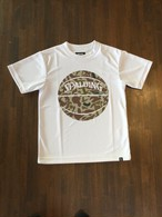 """""""ボーラーカモ""""ジュニアTシャツ ホワイト SJT210510【SPALDING】 スポルディング"""