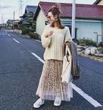 【再販】◆レオパードチュールスカート◆B0013