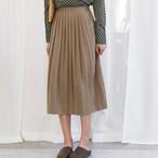【ボトムス】カジュアル無地ゆったり膝下丈スカート17501454